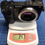 ソニー NEX-7 重さ343g